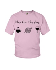 Plan for the day crochet Youth T-Shirt thumbnail