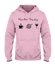 Plan for the day crochet Hooded Sweatshirt front