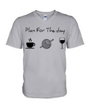 Plan for the day crochet V-Neck T-Shirt thumbnail