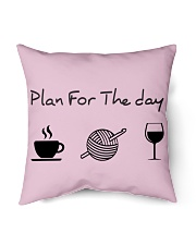"""Plan for the day crochet Indoor Pillow - 16"""" x 16"""" thumbnail"""