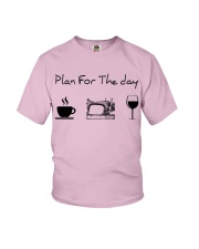 Plan for the day sewing Youth T-Shirt thumbnail