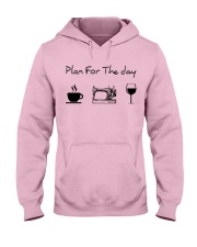 Plan for the day sewing Hooded Sweatshirt front