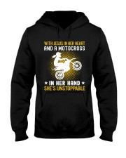 motocross in her hand Hooded Sweatshirt thumbnail