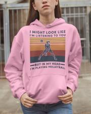 girl might look like listening to you volleyball Hooded Sweatshirt apparel-hooded-sweatshirt-lifestyle-07