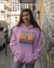 girl might look like listening to you volleyball Hooded Sweatshirt lifestyle-unisex-hoodie-front-1