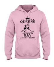 queens hockey-may Hooded Sweatshirt front