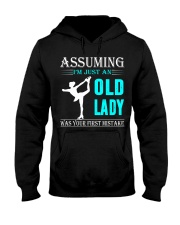 dance on ice old lady Hooded Sweatshirt front