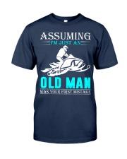 Snowmobile old man Classic T-Shirt thumbnail
