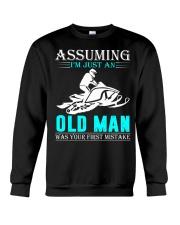 Snowmobile old man Crewneck Sweatshirt thumbnail