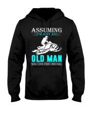 Snowmobile old man Hooded Sweatshirt front
