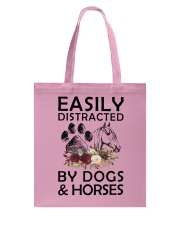 distracted by dogs and horse Tote Bag thumbnail