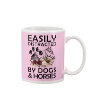 distracted by dogs and horse Mug thumbnail