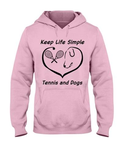 keep life simple tennis and dog