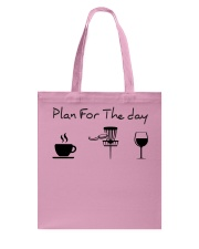 Plan for the day disc golf Tote Bag thumbnail