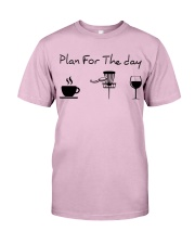 Plan for the day disc golf Classic T-Shirt thumbnail