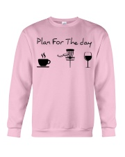 Plan for the day disc golf Crewneck Sweatshirt thumbnail