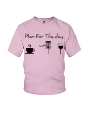 Plan for the day disc golf Youth T-Shirt thumbnail