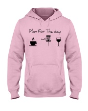 Plan for the day disc golf Hooded Sweatshirt front