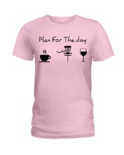 Plan for the day disc golf Ladies T-Shirt thumbnail