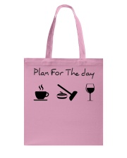 Plan for the day Curling Tote Bag thumbnail
