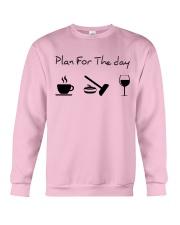 Plan for the day Curling Crewneck Sweatshirt thumbnail