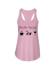 Plan for the day Curling Ladies Flowy Tank thumbnail