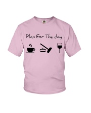 Plan for the day Curling Youth T-Shirt thumbnail