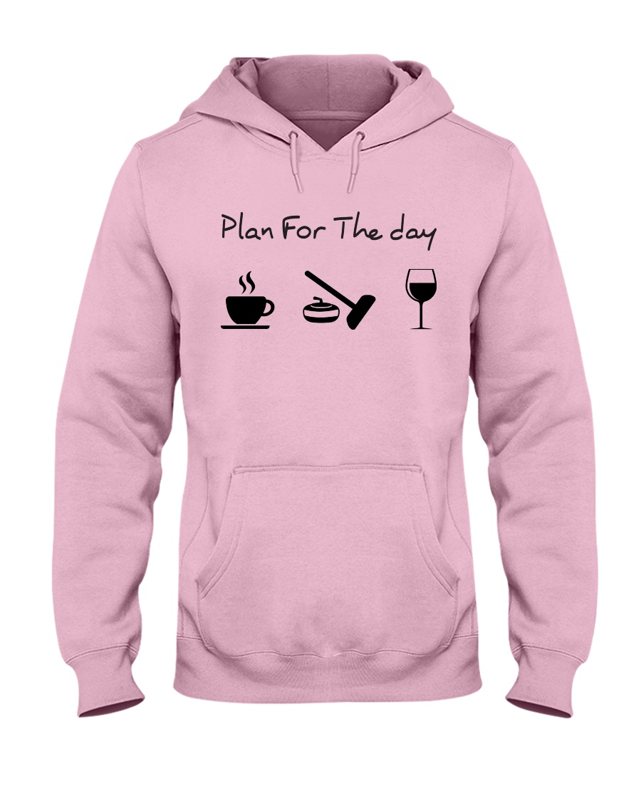 Plan for the day Curling Hooded Sweatshirt