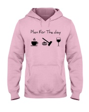 Plan for the day Curling Hooded Sweatshirt front