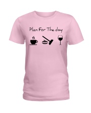 Plan for the day Curling Ladies T-Shirt thumbnail