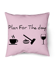 """Plan for the day Curling Indoor Pillow - 16"""" x 16"""" thumbnail"""