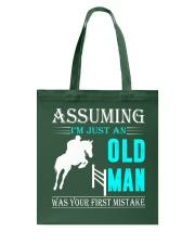 show jumping old man Tote Bag thumbnail