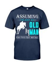 show jumping old man Classic T-Shirt thumbnail