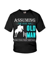 show jumping old man Youth T-Shirt thumbnail