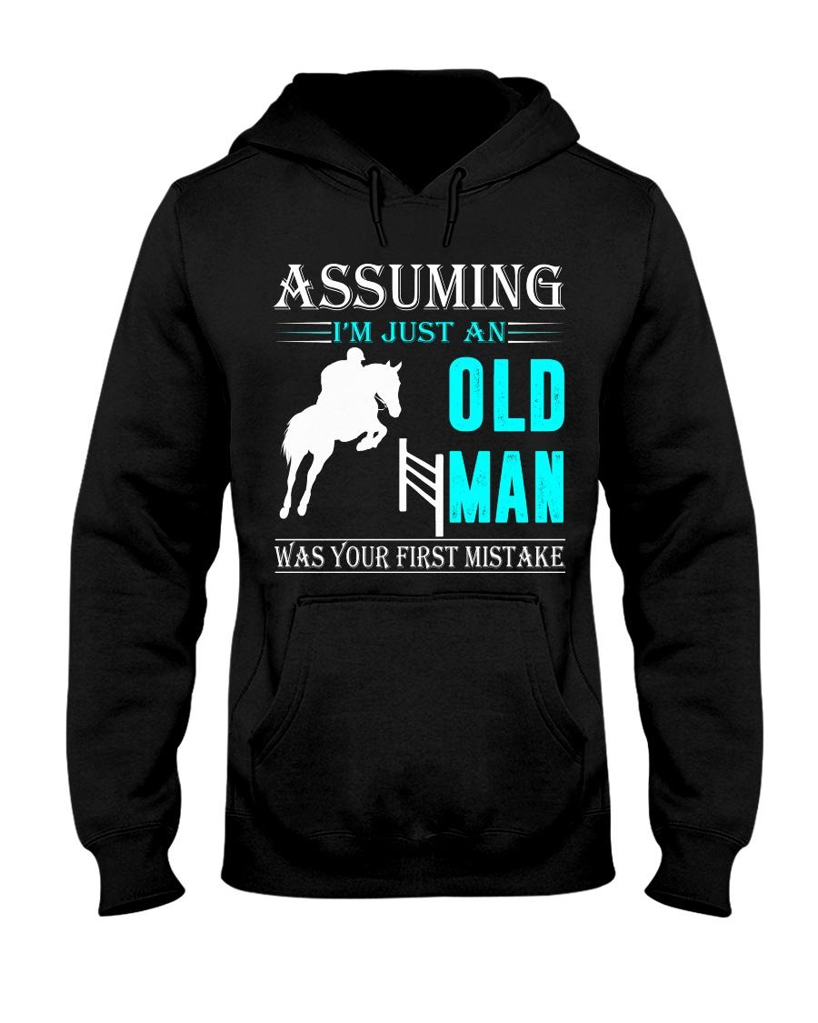 show jumping old man Hooded Sweatshirt