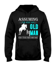 show jumping old man Hooded Sweatshirt front