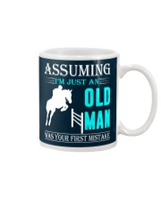 show jumping old man Mug thumbnail