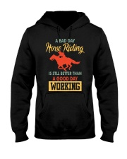 bad day horse riding Hooded Sweatshirt front