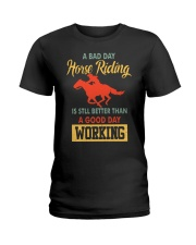 bad day horse riding Ladies T-Shirt tile