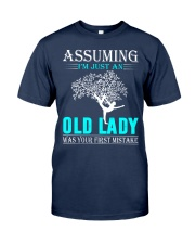 yoga old lady Classic T-Shirt tile
