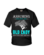 yoga old lady Youth T-Shirt thumbnail