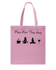 Plan for the day gym and yoga Tote Bag tile