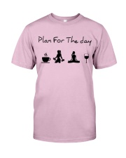 Plan for the day gym and yoga Classic T-Shirt tile