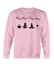 Plan for the day gym and yoga Crewneck Sweatshirt tile