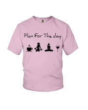 Plan for the day gym and yoga Youth T-Shirt thumbnail