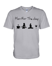 Plan for the day gym and yoga V-Neck T-Shirt tile