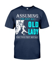 Rock climbing old lady Classic T-Shirt thumbnail