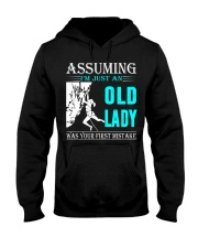 Rock climbing old lady Hooded Sweatshirt front