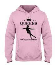 queens figure skating Hooded Sweatshirt front