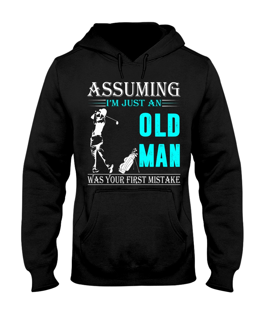 golf old man Hooded Sweatshirt